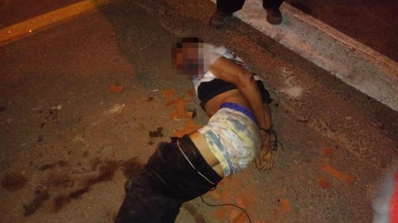Homem foi preso após tentativa de assalto a idosa em Aparecida | Foto: Leitor / Folha Z