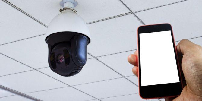 Monitoramento de câmeras pelo celular | Foto: Reprodução