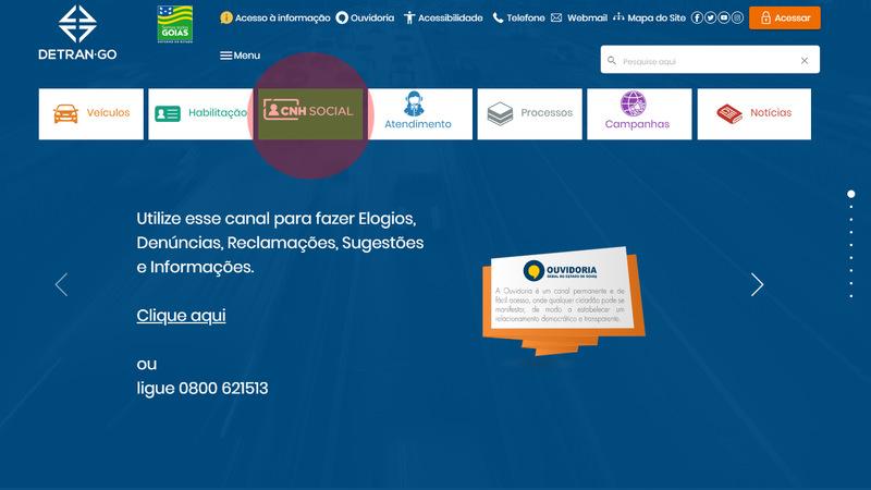 Passo a Passo para a inscrição na CNH Social em Goiás | Foto: Divulgação / Detran-GO