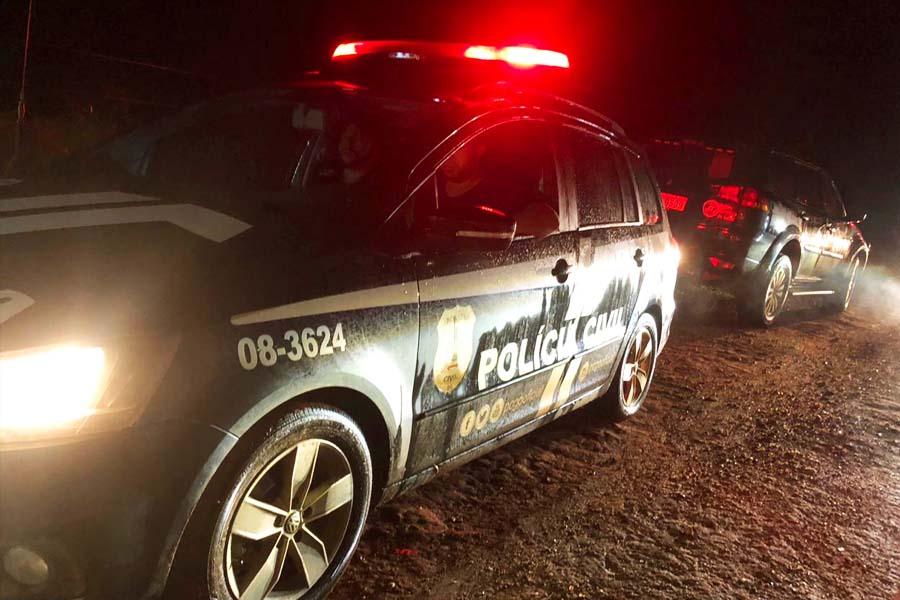 Diligência da Polícia Civil para localizar corpo teve que viajar por cerca de 40 km   Foto: Divulgação / PC