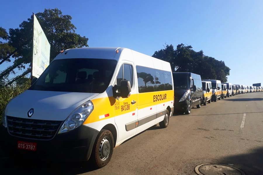 Vans escolares poderiam transportar mais de 3 mil passageiros por hora em Aparecida | Foto: Divulgação
