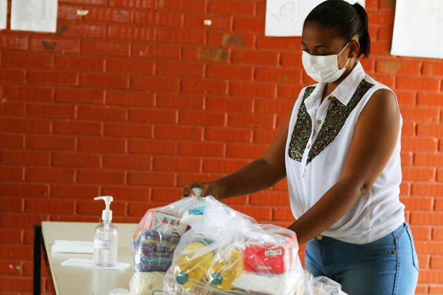 3ª remessa de cestas básicas começa ser distribuída nesta 3ª feira (10) em Goiânia | Foto: Divulgação