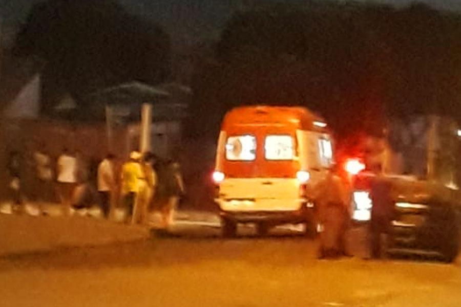 Criança foi atropelada na Avenida B, no Marista Sul, em Aparecida | Foto: Jhonney Macena