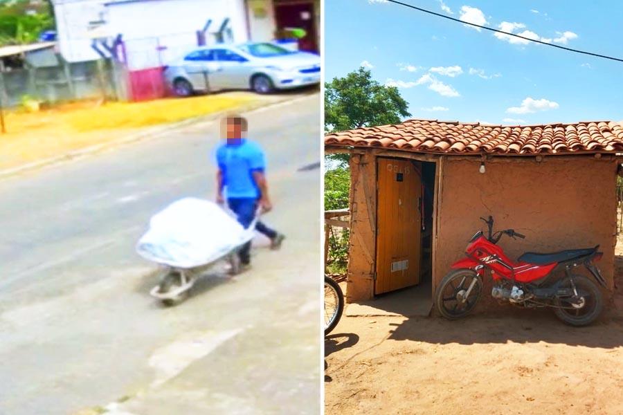 Veiga Jardim: Suspeito de matar e carregar cadáver em carrinho de mão foi preso no Maranhão