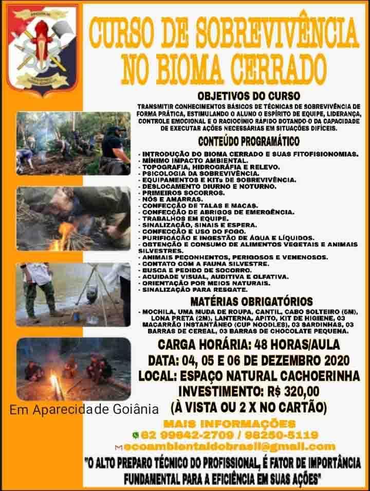 Curso de sobrevivência no Cerrado