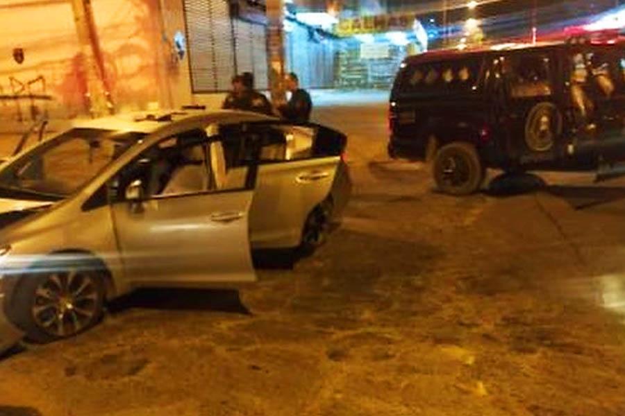 Dupla foi detida pelo Bope em Aparecida   Foto: Leitor / FZ