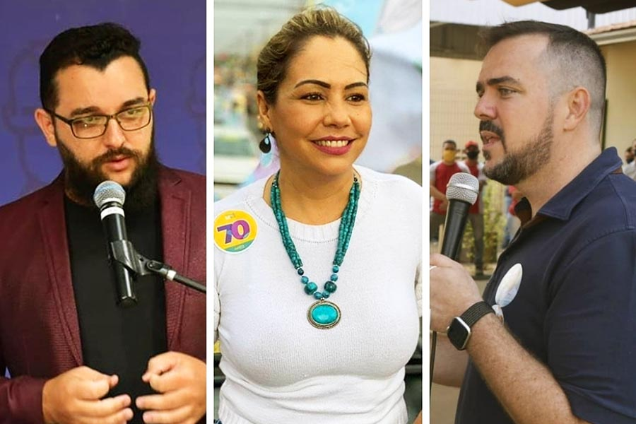 Bruno Felipe (PSOL), Márcia Caldas (Avante) e Gustavo Mendanha (MDB) | Foto: Montagem/FZ