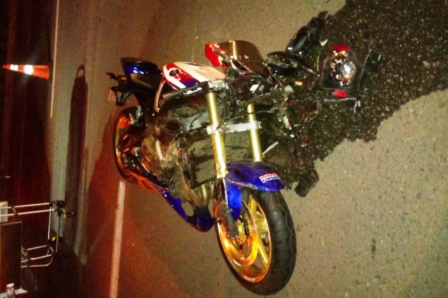 Mulher morre em acidente de moto na BR-153 | Foto: Leitor/FZ