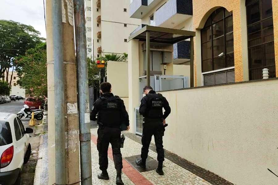 Mandados também foram cumpridos em Goiânia | Foto: Divulgação/PC-GO