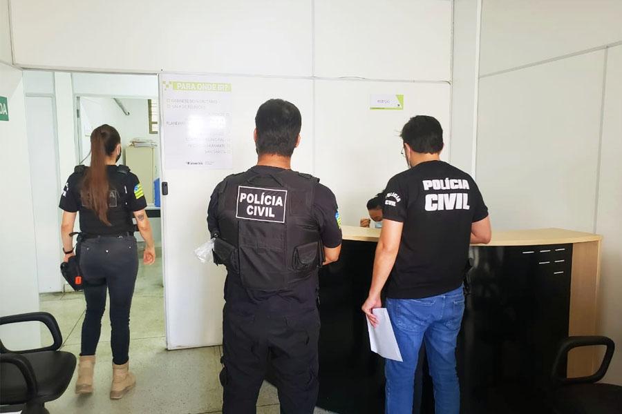 Buscas e apreensões de documentos foram feitas nas Secretarias da Saúde e da Fazenda de Aparecida | Foto: Divulgação/PC-GO