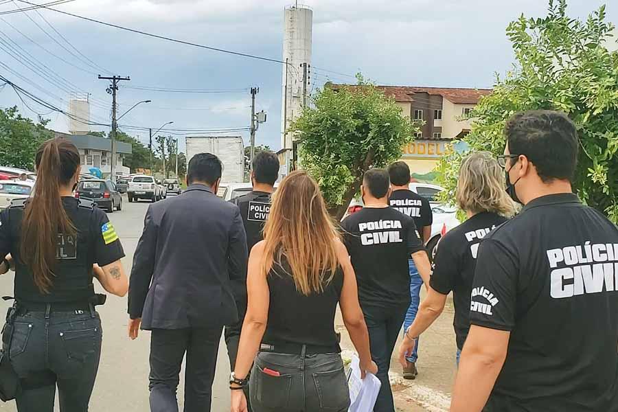 Polícia Civil deflagra Operação Falso Positivo para investigar suspeitas de irregularidades na Saúde, em Aparecida de Goiânia   Foto: Divulgação/PC-GO