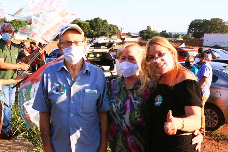 Carreata de Valéria Pettersen no Retiro do Bosque reúne apoiadores | Foto: Divulgação