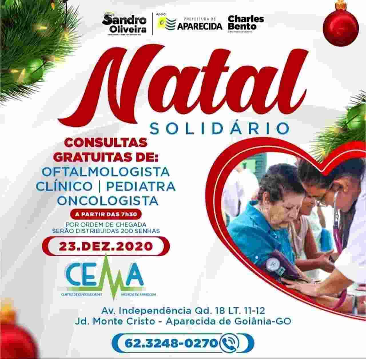 natal solidário consultas grátis Aparecida