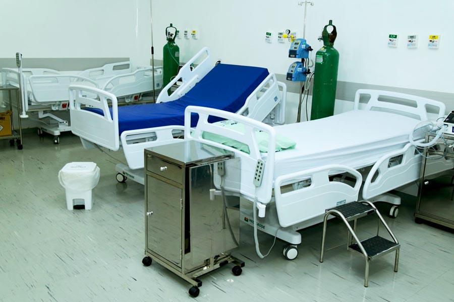 Leitos de enfermaria do Centro de Especialidades de Aparecida   Foto: Enio Medeiros