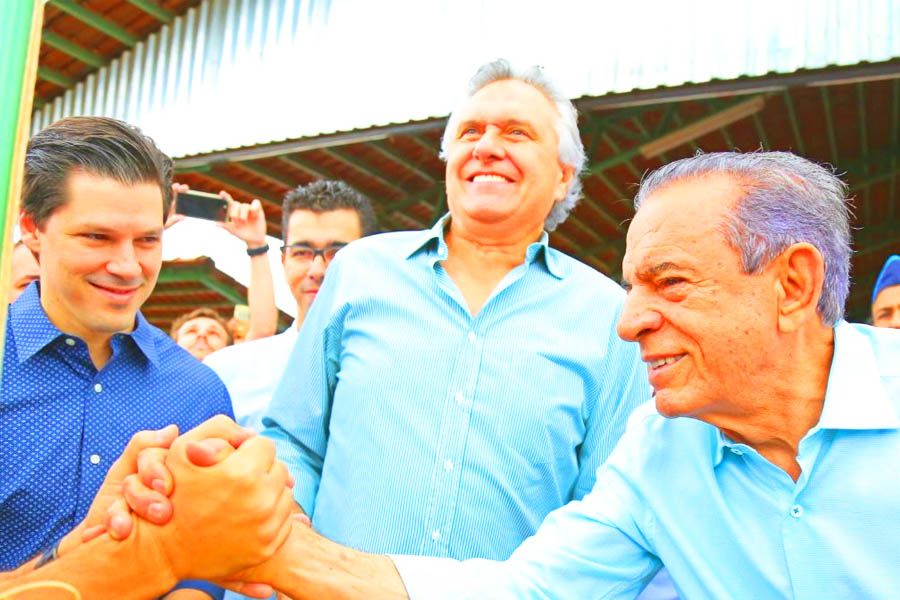 Daniel Vilela, Ronaldo Caiado e Iris Rezende   Foto: Jackson Rodrigues