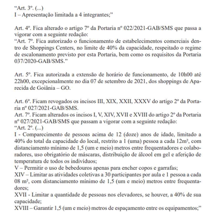 PORTARIA N° 124/2021-GAB/SMS