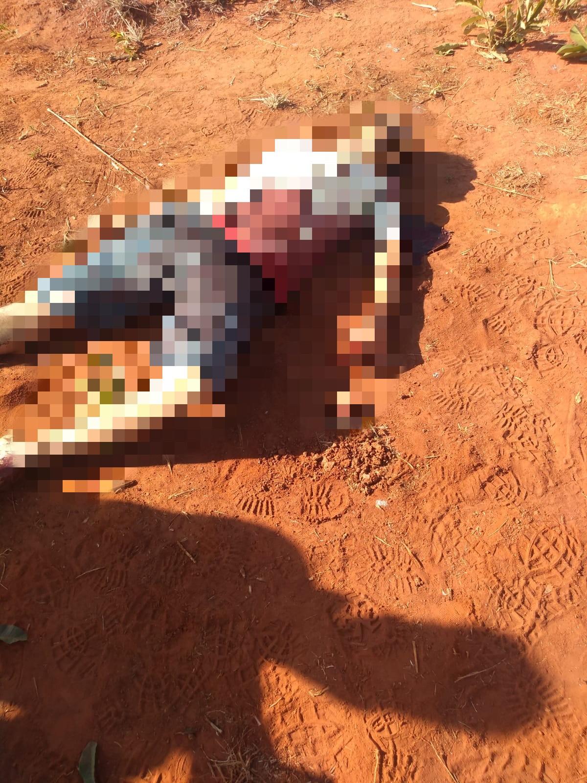 Corpo encontrado com facadas por moradores | Foto: Reprodução