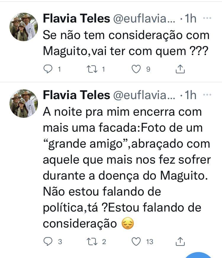 Tuítes de Flávia Teles   Foto: Reprodução
