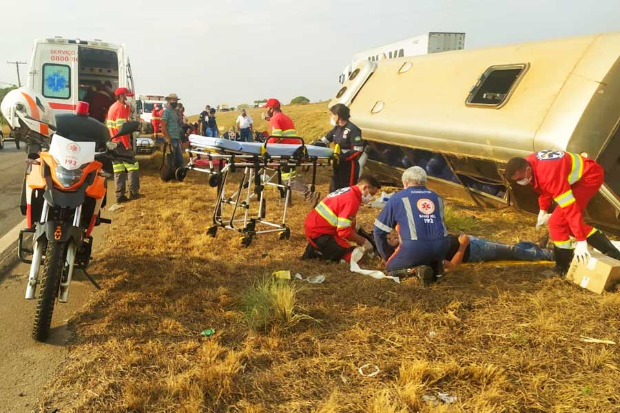 Acidente na BR-153 | Foto: Leitor / FZ